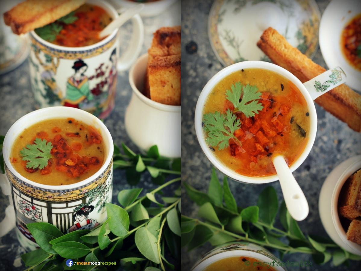 Khatti Meethi Dal Soup recipe step by step