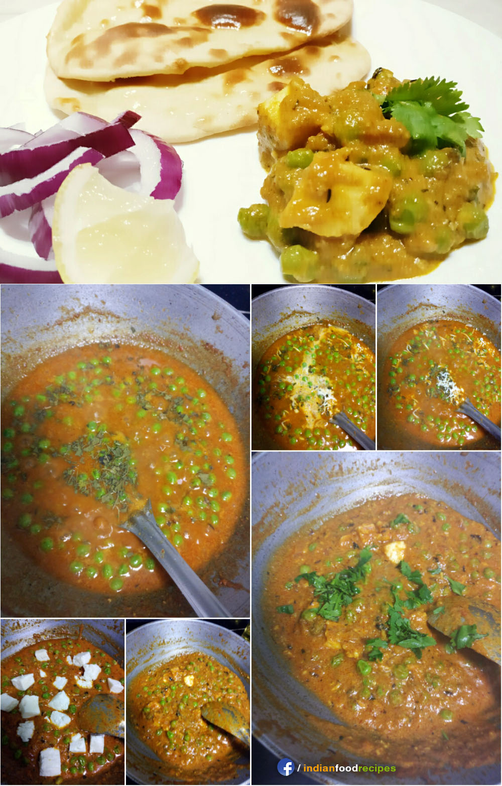 Matar paneer recipe step by step