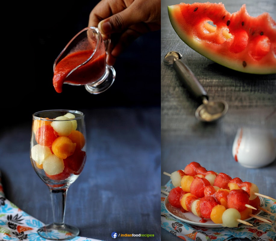 Melon Salad with Strawberry Dressing recipe step by step