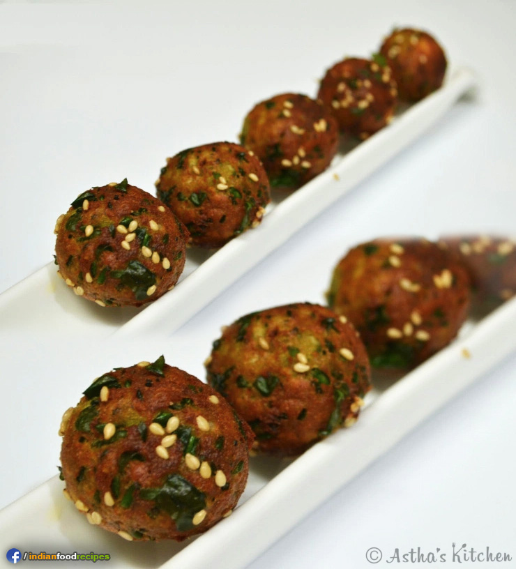 Palak Paneer Balls recipe step by step