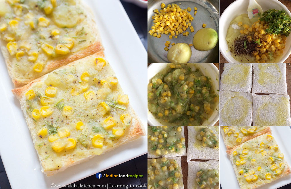 Potato Corn Toast recipe step by step