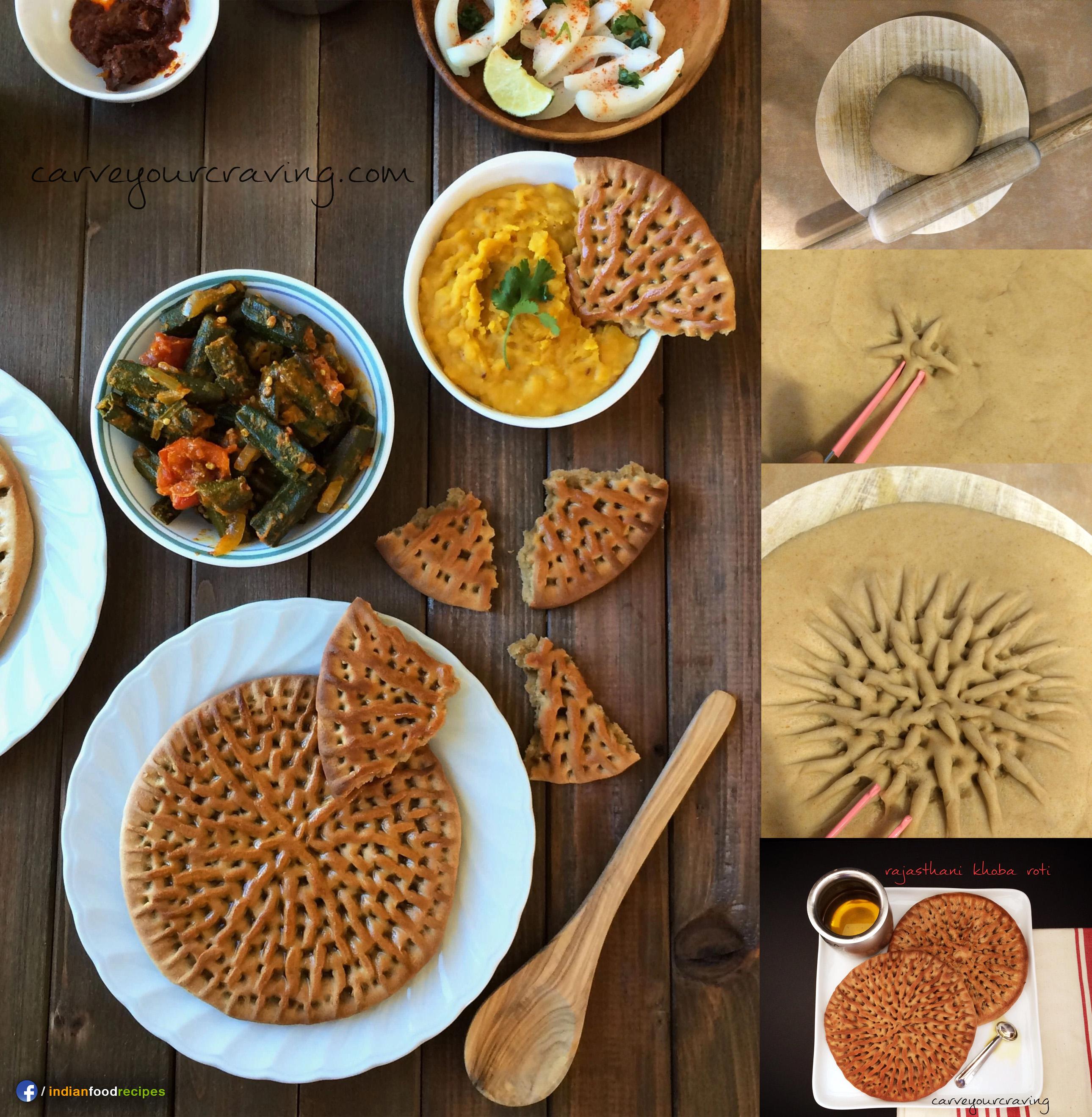 Rajasthani Khoba Roti recipe step by step