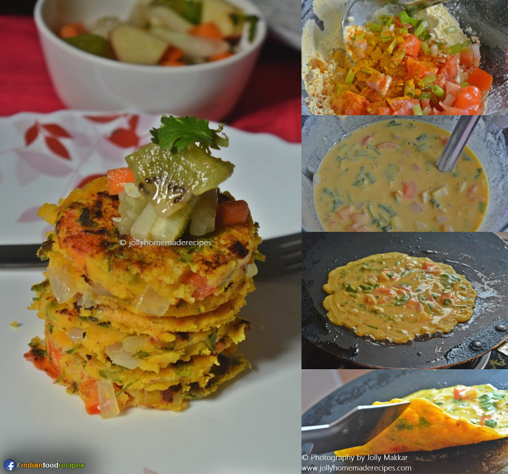 Vegetable Tomato Omelette recipe step by step