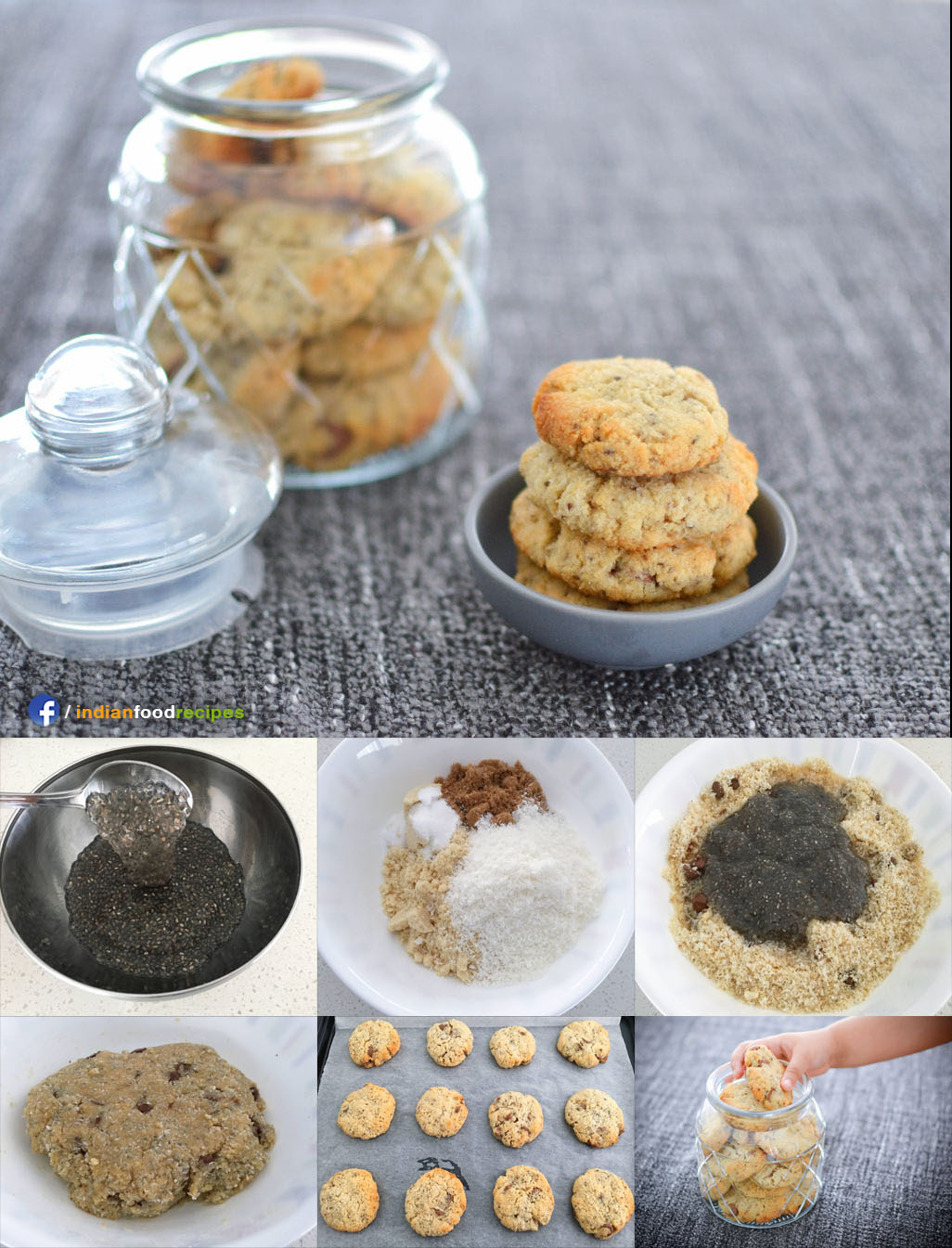 Almond Coconut Cookies recipe step by step pictures