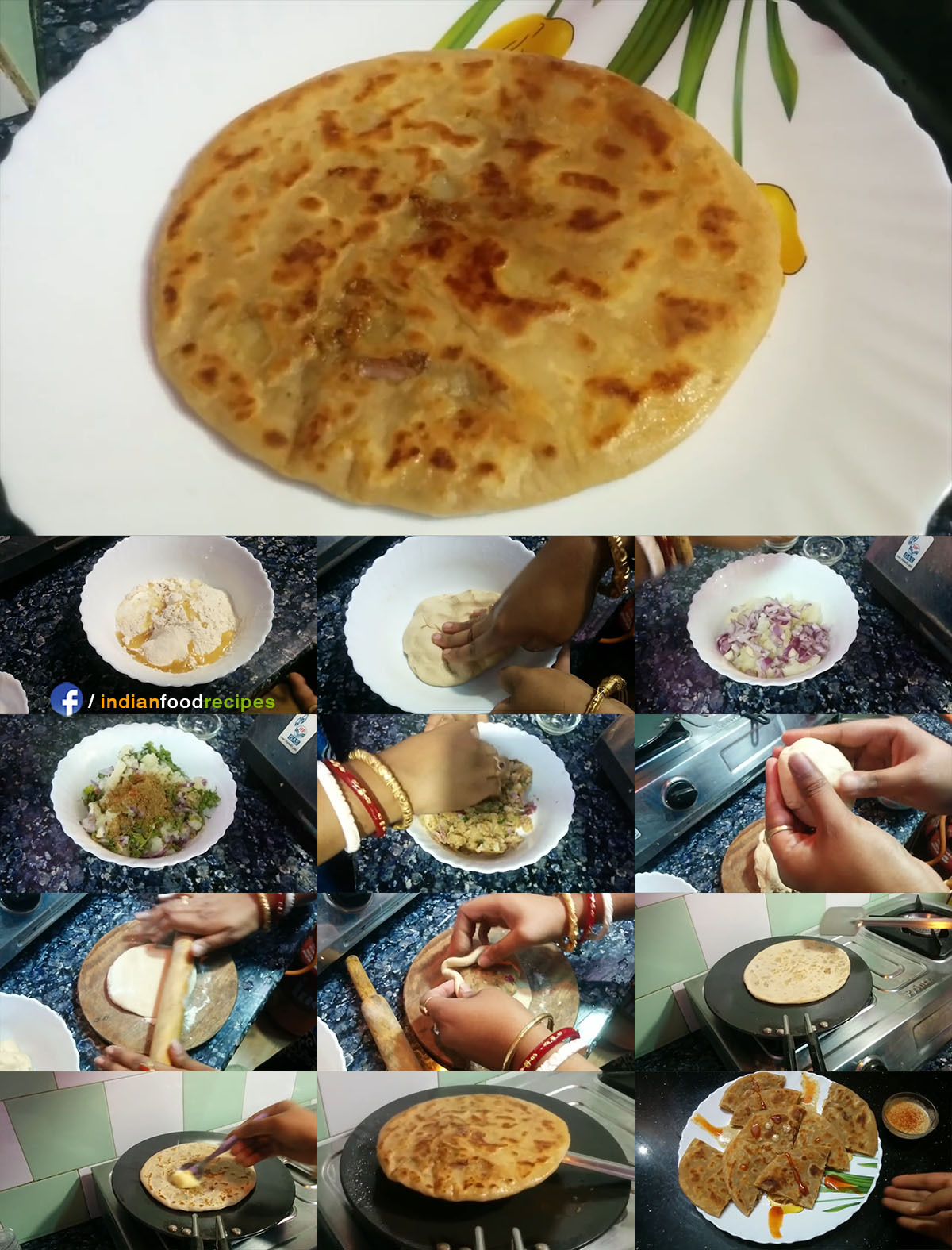 Aloo Ka Paratha | Dhaba Style Potato Stuffed Paratha recipe step by step