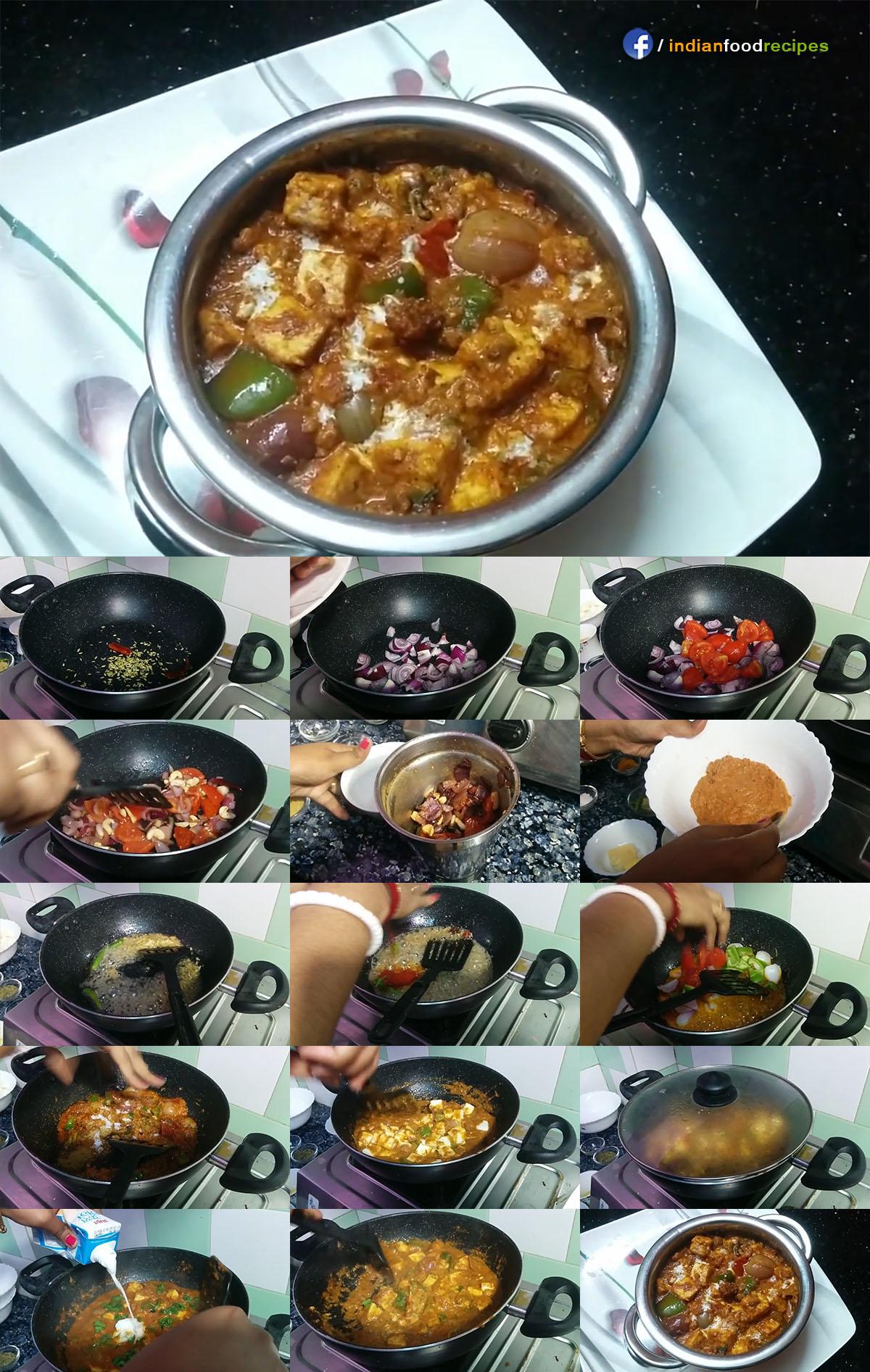 Kadai Paneer In Authentic Punjabi Dhaba Style recipe step by step