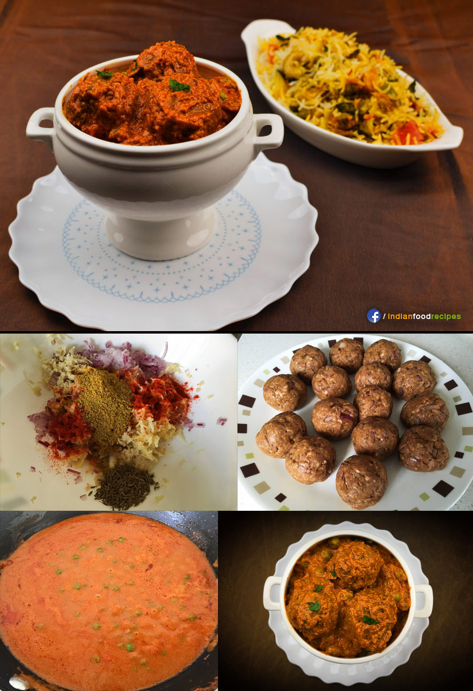Lamb Kofta Curry recipe step by step pictures