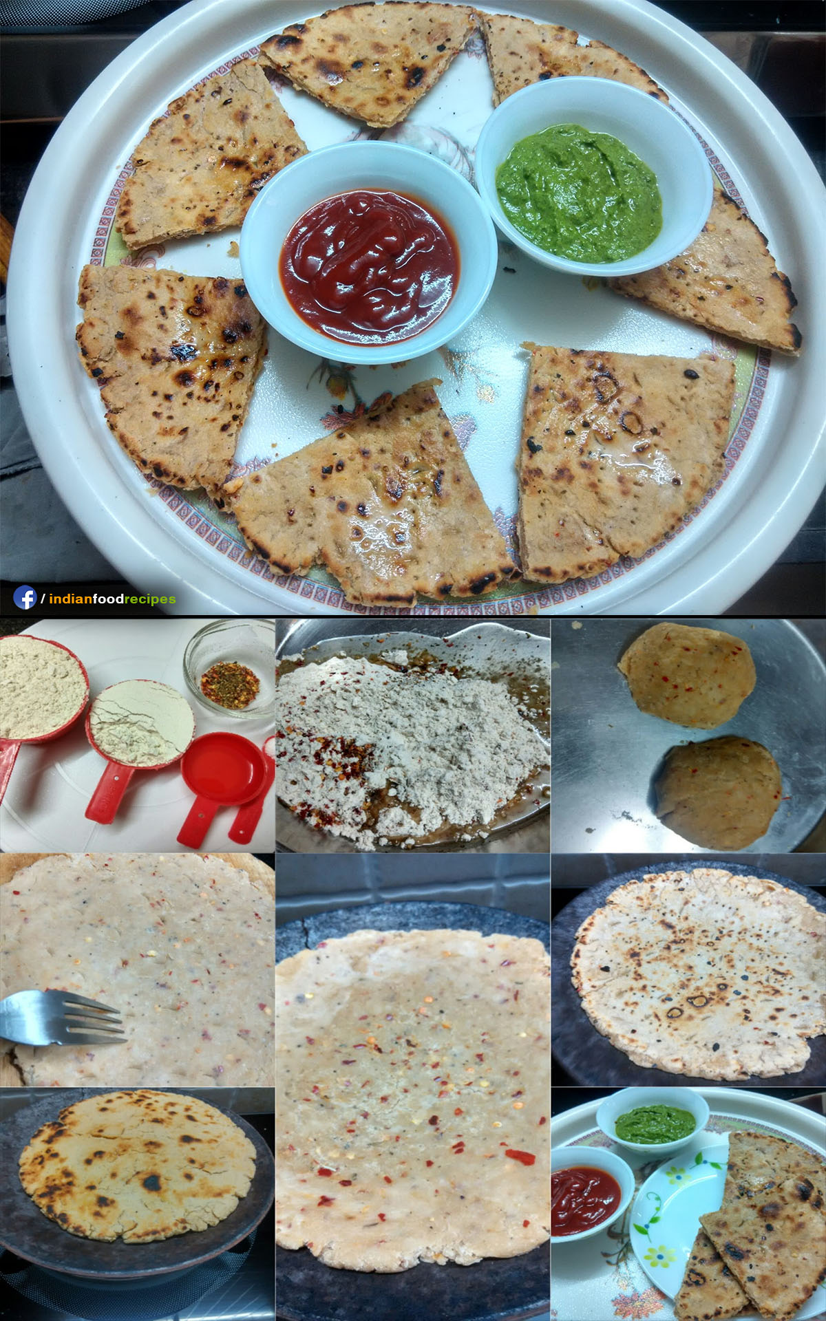 Masala Bhakri (Gujrati flat bread) recipe step by step pictures