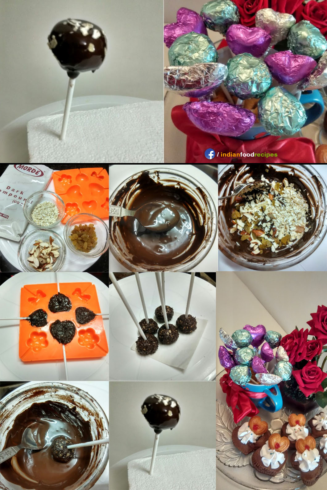 Oats and Nuts Chocolates Bouquet recipe step by step pictures