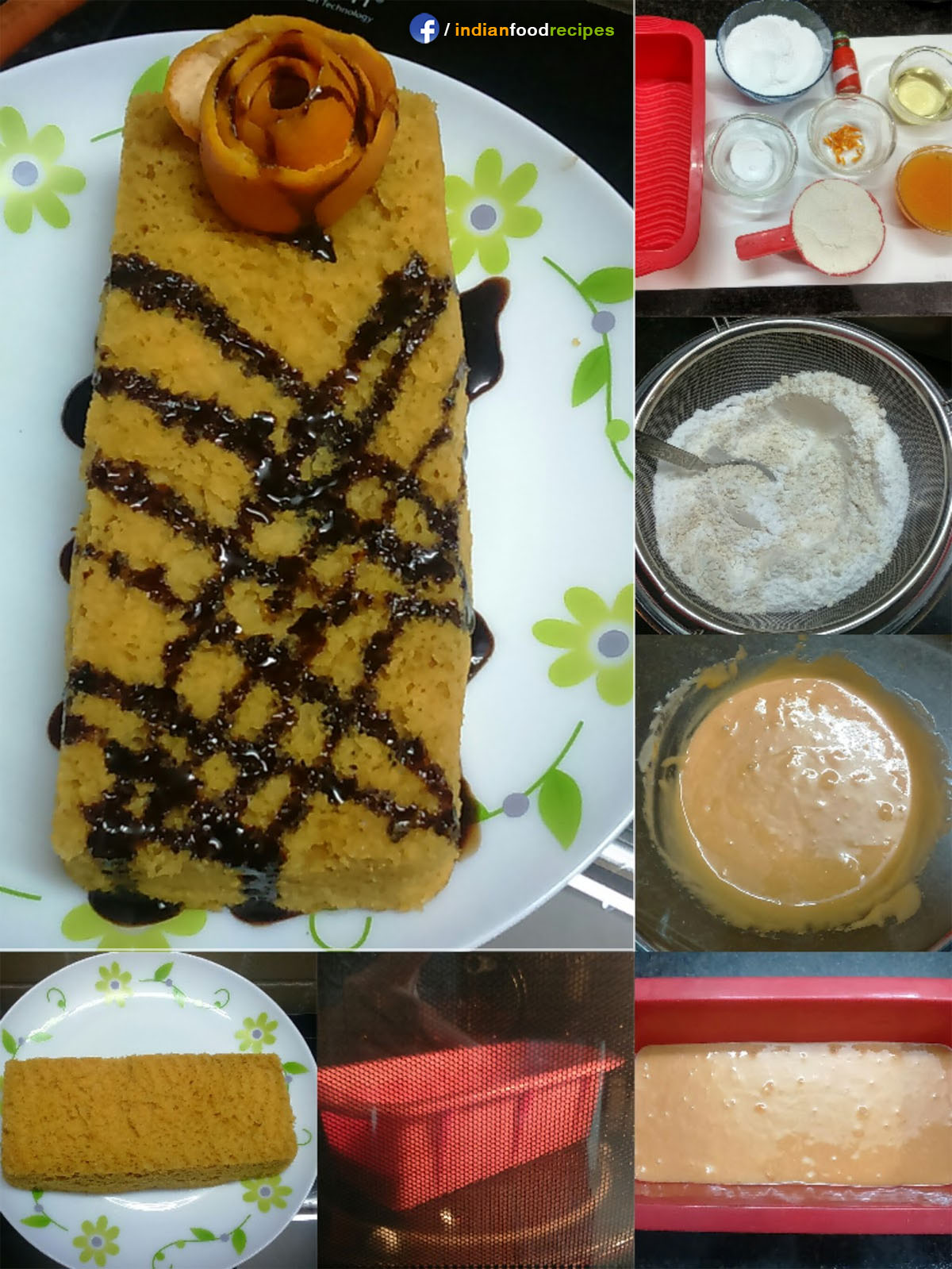 Orange Cake in Microwave recipe step by step pictures