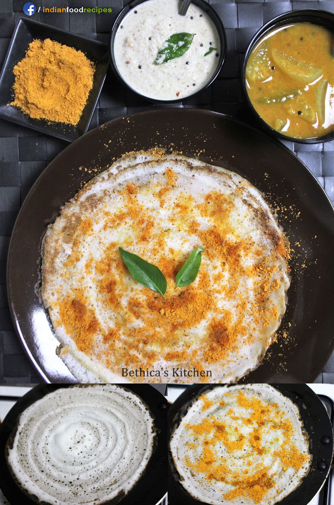 Podi Dosa - South Indian Breakfast recipe step by step pictures