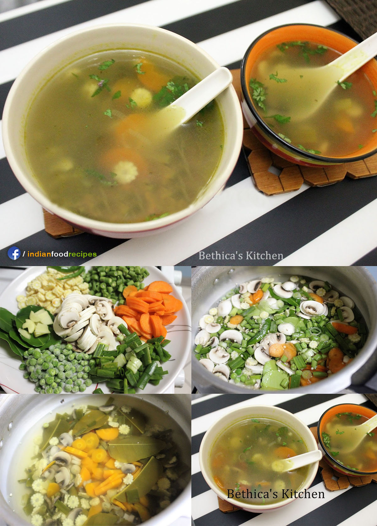 Tom Yum Vegetable Soup recipe step by step pictures