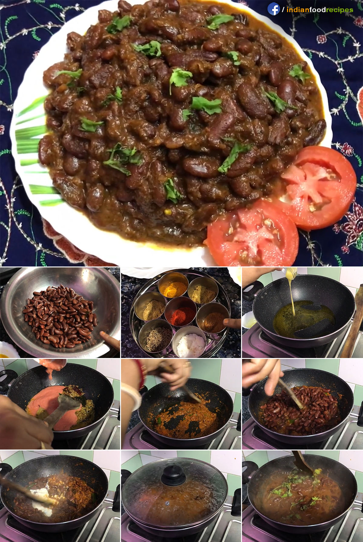 Kashmiri Rajma | Authentic Kashmiri Rajma Masala recipe step by step pictures