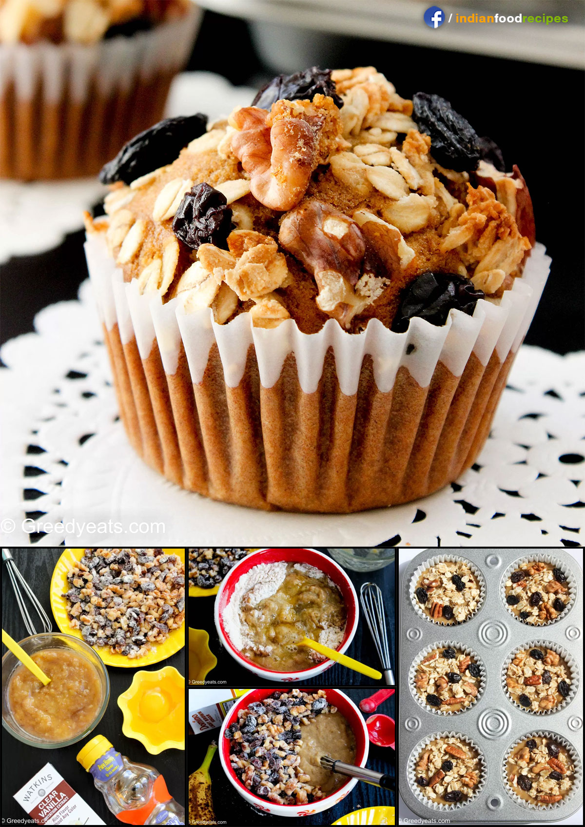 Healthy Banana Muffins recipe step by step pictures