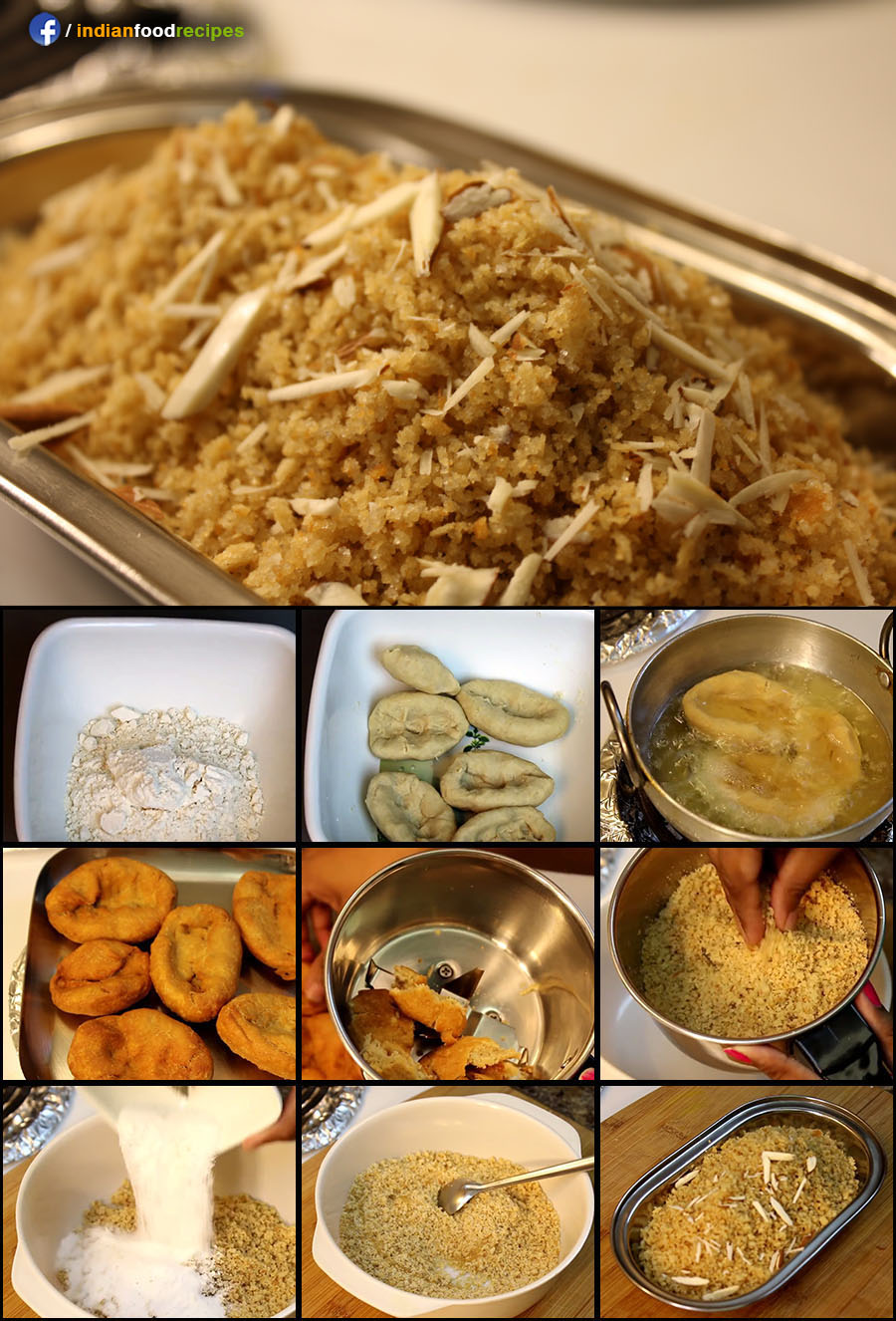 Rajasthani Churma recipe (step by step) pictures