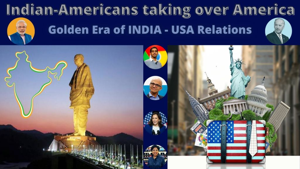 India USA relations : Indian Americans taking over America