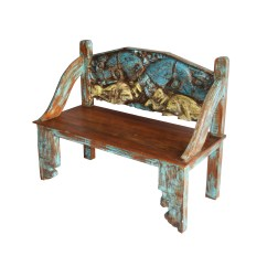 Colonial Sofa Sets India Serta Simon Convertible Reviews Old Teak Wood Carved Bench  Indian Furniture Zone By