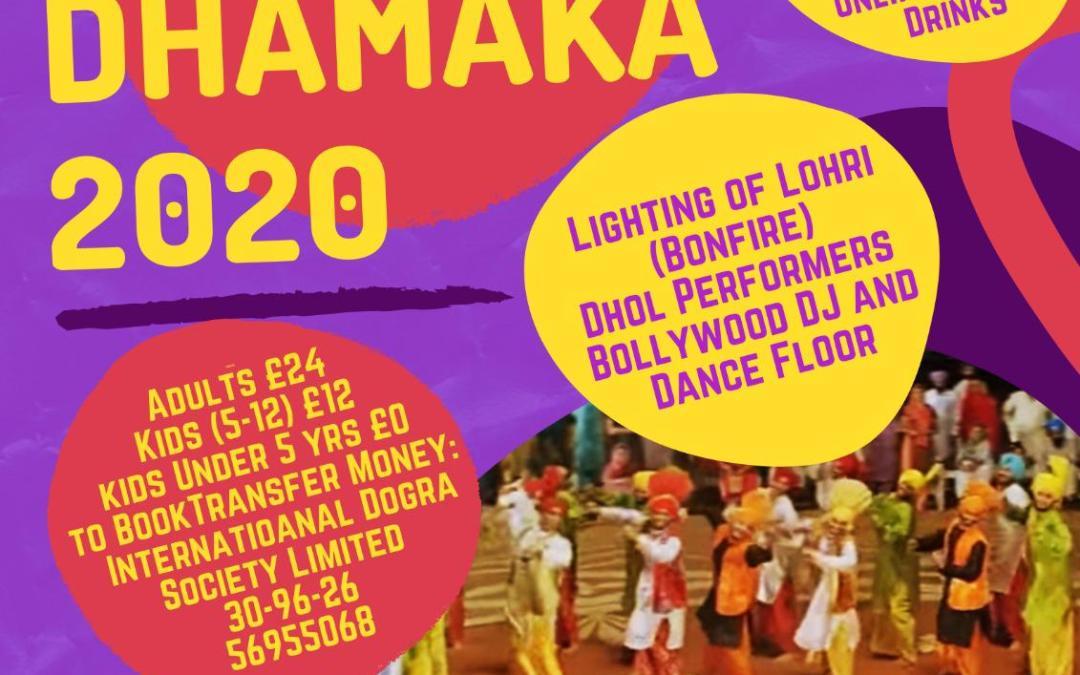 Lohri Dhamaka 2020 at Indian Gymkhana Club, Osterley TW7 4NQ