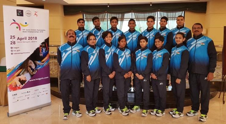Indian Gymnastics Team for Junior Artistic Gymnastics Asian Championship 2018
