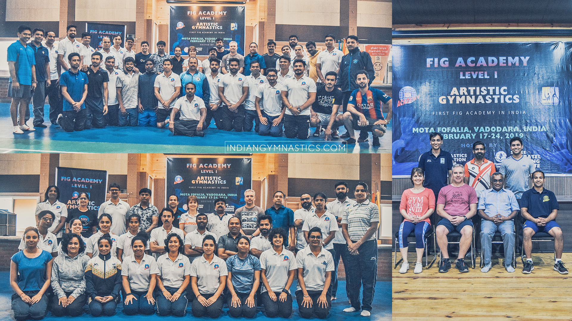 50+ Coaches from India attended the FIG Level 1 Coaching course