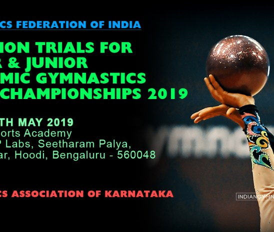 Selection trials for Senior & Junior Rhythmic Gymnastics Asian Championships 2019