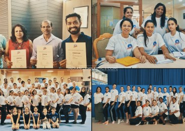 Indian Coaches successfully completed FIG Level 1 Coaching Course in Artistic and Rhythmic Gymnastics