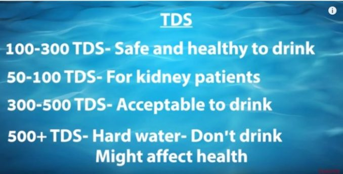 TDS (Total Dissolved Solids) levels