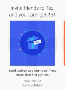 TEZ APP REFER AND EARN