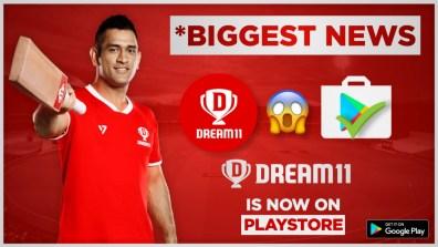 Dream 11 Fantasy App Available On Gooogle Play Store