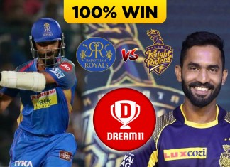 IPL 2019 ( MATCH 43 ) RR VS KKR Dream 11 Prediction & Playing XI
