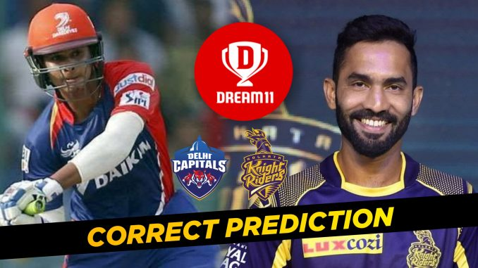 IPL 2019, MATCH 26: KKR vs DC Best Dream11 team Today Prediction
