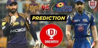 IPL 2019 - 56th Match, MI vs KKR Dream11 Team Prediction Today Match