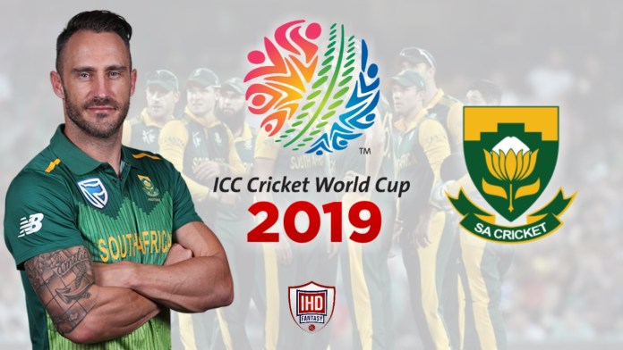 South Africa Cricket Team for ICC World Cup 2019