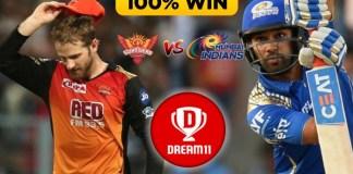 IPL 2019 - 51st Match, MI vs SRH Dream11 Team Prediction Today Match