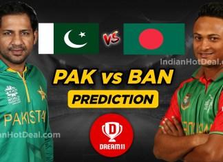 PAK vs BAN Ballebaazi Team Prediction Today,ICC WC 2019, 43rd Match