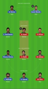 PAK vs SL Dream11 Teams for today's match