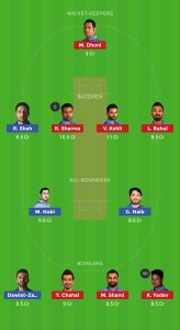 iInd vs AFG Dream11Team for small league