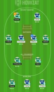 SL vs SA Howzat Fantasy Cricket Team