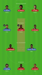 Wi vs SL Dream11 Team Today For Head 2 Head