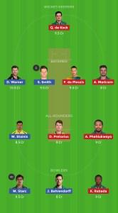 SL Vs SA Dream11 Team for Grand league