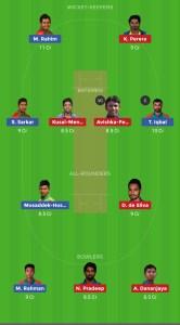 SL VS BAN Dream11 Team for grand league
