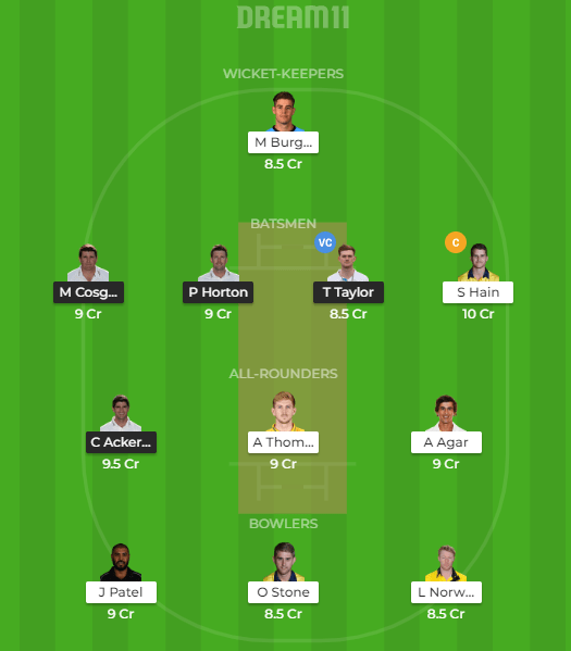 WARKS vs LEIC Dream11 Grand League Team
