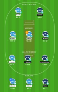 NEW ZEALAND VS iNDIA Howzat Fantasy Cricket Team