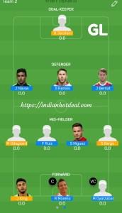 FINAL: SPA vs NRW MyTeam11 Fantasy Football GRAND LEAGUE Team