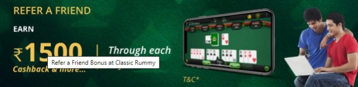 classic rummy refer and earn