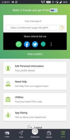 credit mantri refer and earn