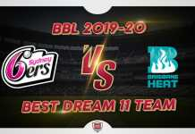 SIX vs HEA Dream 11 Team Prediction Big Bash 2019-20 (100% Winning)
