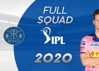 Rajasthan Royals Squad & Complete List Of Player's