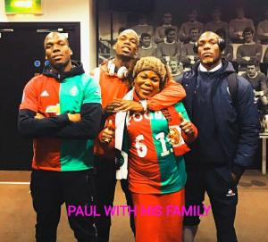 Paul Pogba with his Family