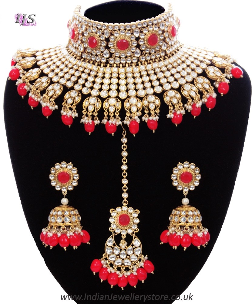 Red Jewelry Sets : jewelry, Designer, Sabyasachi, Inspired, Bridal, Jewellery, Indian